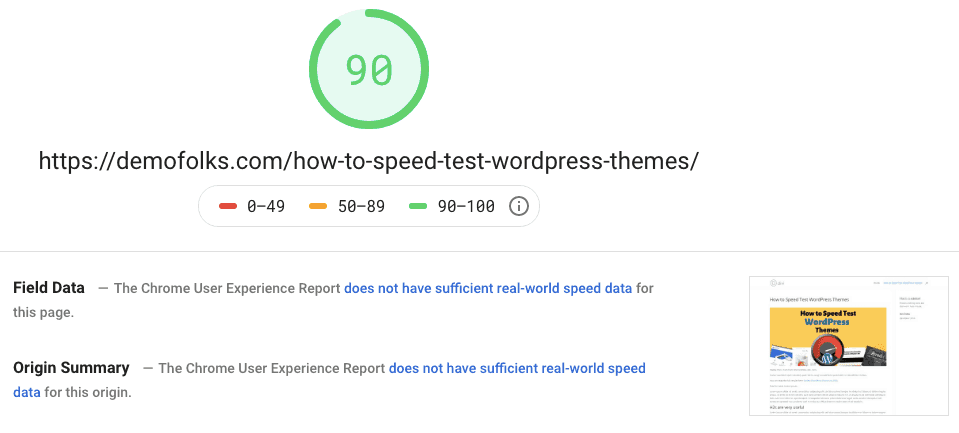 Divi Pagespeed Desktop
