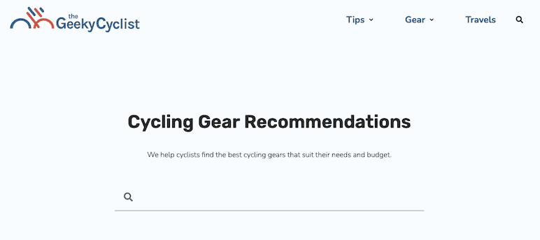 Geeky Cyclist Generate Premium Example