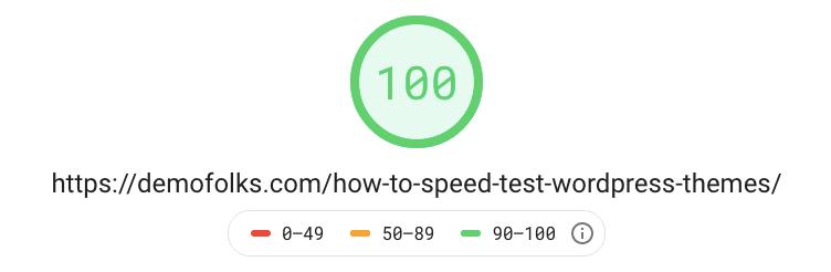 Generatepress 100 Pagespeed Score