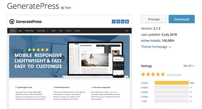 generatepress-wordpress-page