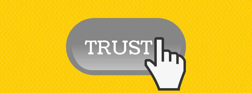 google trust button