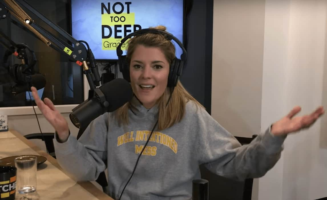 Grace Helbig Podcast Microphone