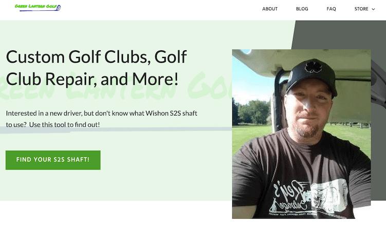 Green Lantern Golf Thrive Theme Builder Example