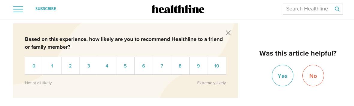 Healthline Onpage Survey