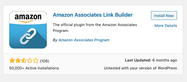 Install Amazon Associates Link Builder Plugin