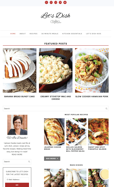 Lets Dish Genesis Theme Example Foodie Pro