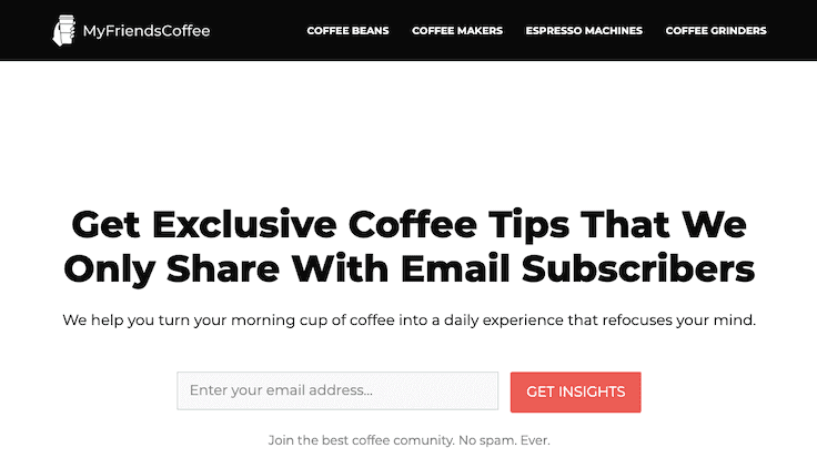 Myfriendscoffee Generatepress Amazon Affiliate Site