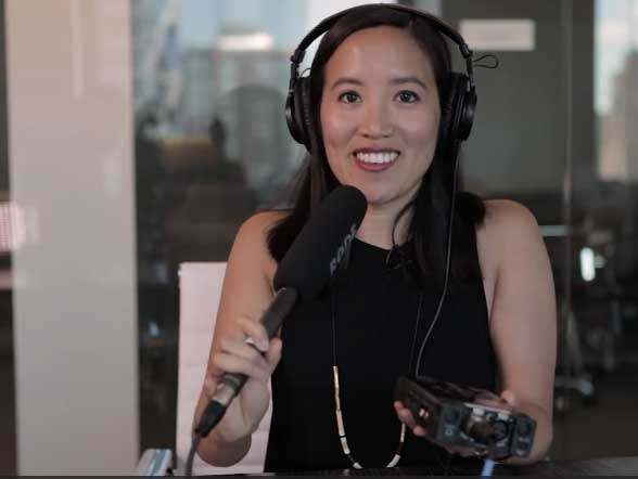 Nicole Wong Podcast Microphone