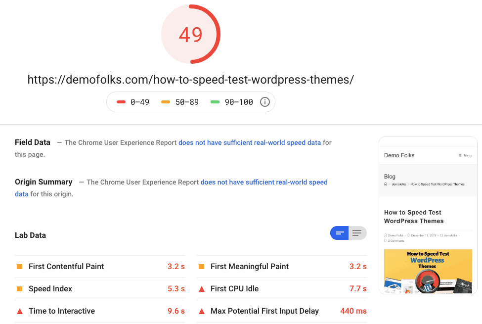 Oceanwp Pagespeed Mobile