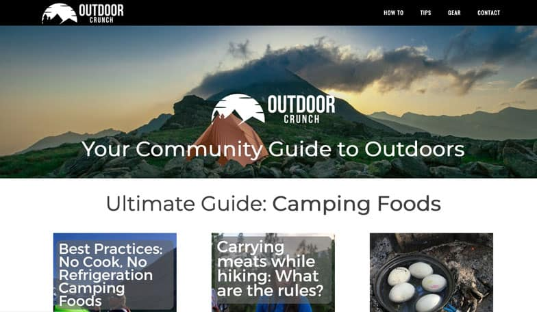 outdoor-crunch-affiliate-site-example