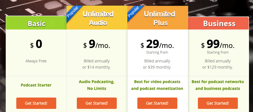 Podbrean Pricing