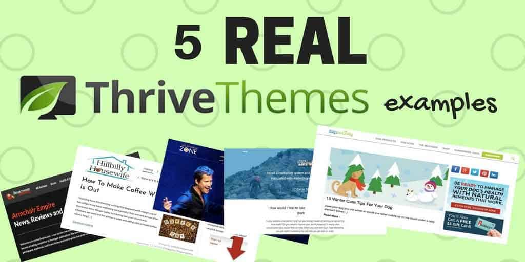 5 Real Wordpress Websites That Use Thrive Themes in 2018