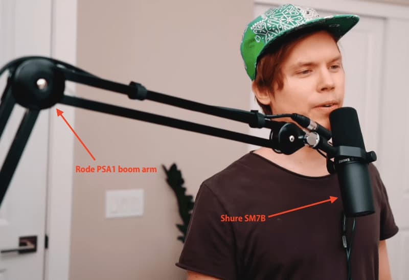 Roomie Official Singing Shure Sm7b Rode Psa1 Boom Arm
