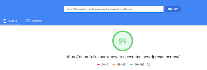 Runcloud Pagespeed Insights Score