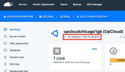 Runcloud Server Ip