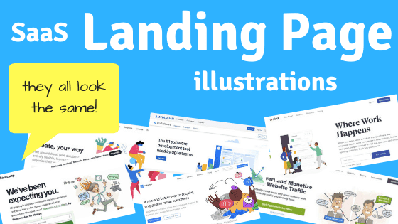 Saas Landing Page Illustrations