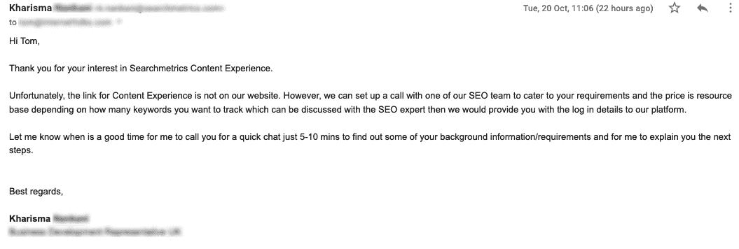 Searchmetrics Email
