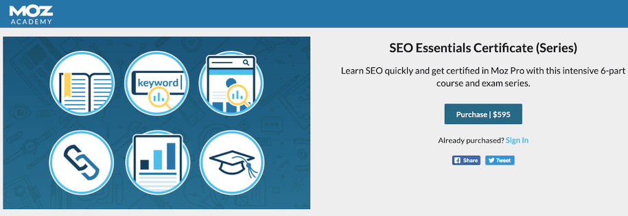 Seo Certification Moz