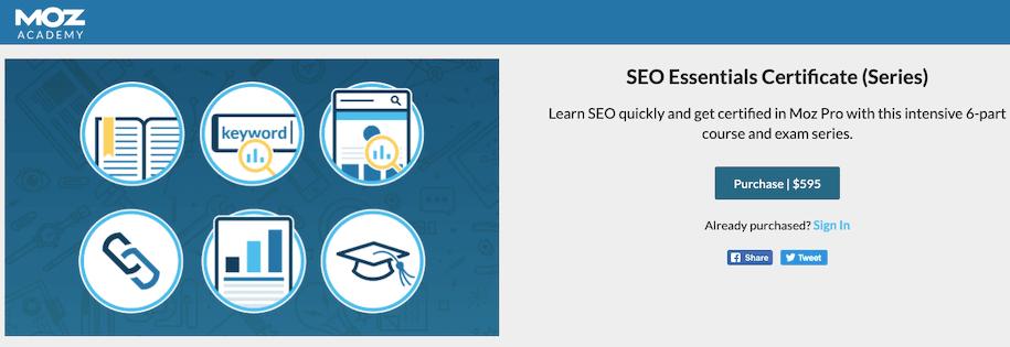 Seo Certification Moz