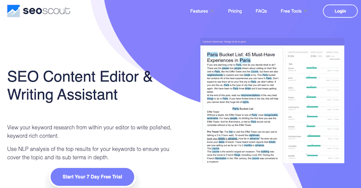 Seo Scout Seo Content Editor Writing Assistant