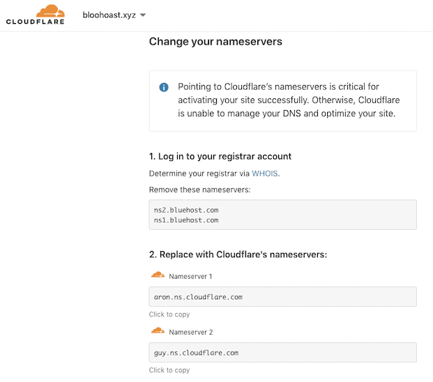 Setting Up Cloudflare For Bluehost