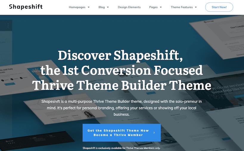 Shapeshift Theme Demo