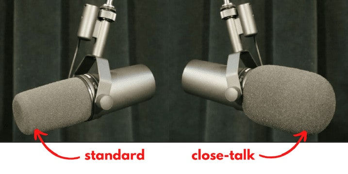Shure Sm7b Windscreen Standard Vs Close Talk