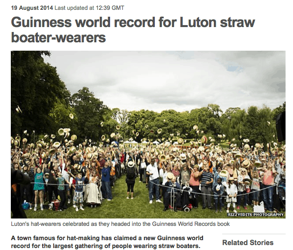 staw hat world record