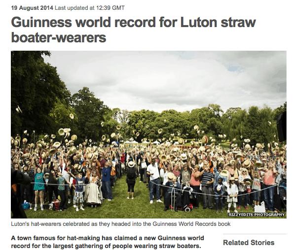 staw hat world record