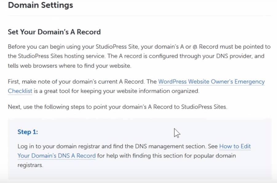 studiopress-sites-change-nameservers