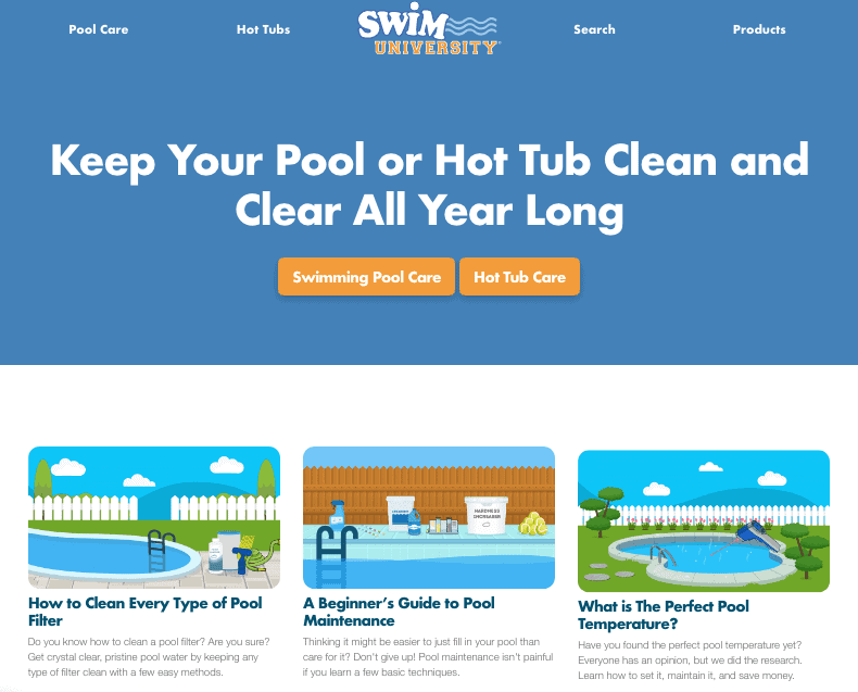 Swim University Carbonate Amazon Affiliate WordPress Theme