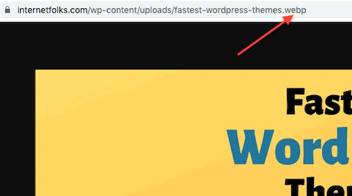 test webp images working wordpress
