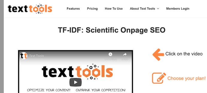Text Tools Tf Idf