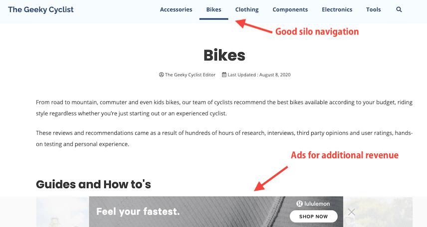 Thegeekycyclist Generatepress Amazon Affiliate Theme