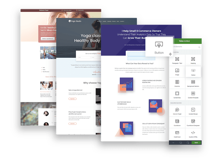 Thrive Architect Homepages