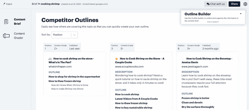 Topic Outline Builder