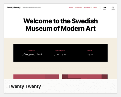 Twenty Twenty WordPress Theme