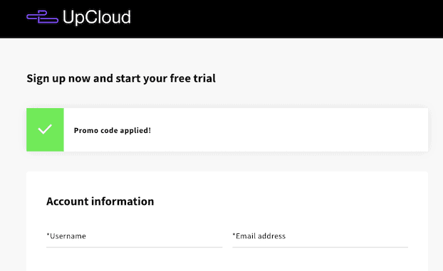 Upcloud Sign Up