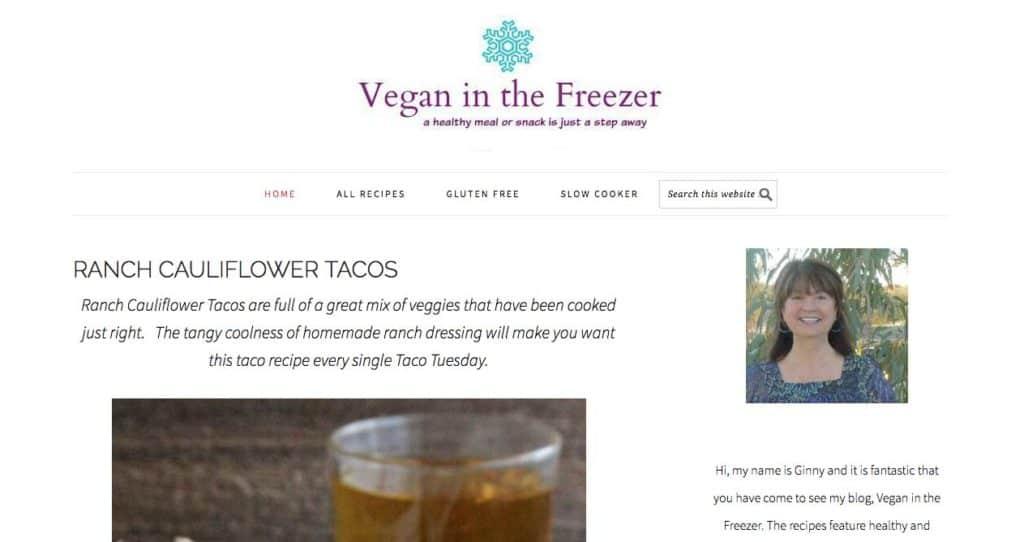 vegan in the freezer