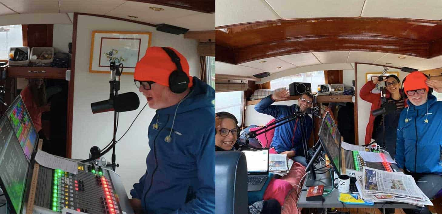 Virgin Radio Boat Chris Evans Shure Sm7b