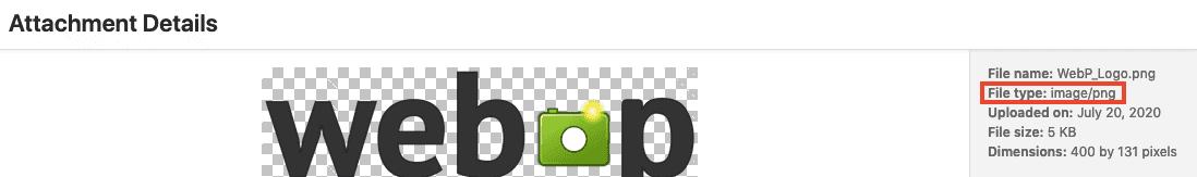 Wordpress Media Library Image File Type