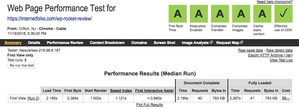 wordpress-speed-test