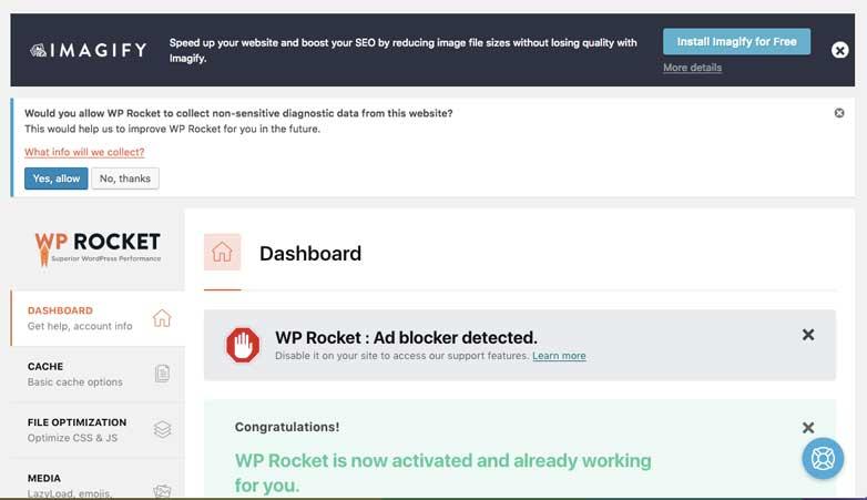 wp-rocket-dashboard