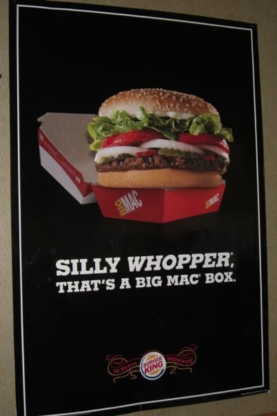 burger king comparative advertising